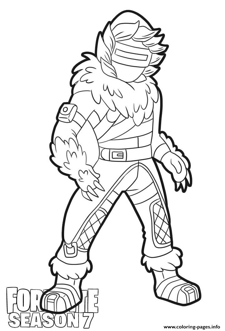 Zenith Skin From Fortnite Season 7 coloring pages