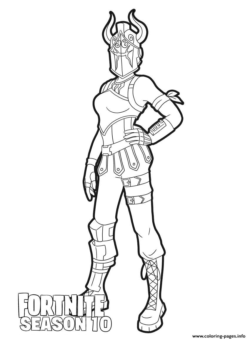 Dark Red Knight From Fortnite Season 10 Coloring Pages