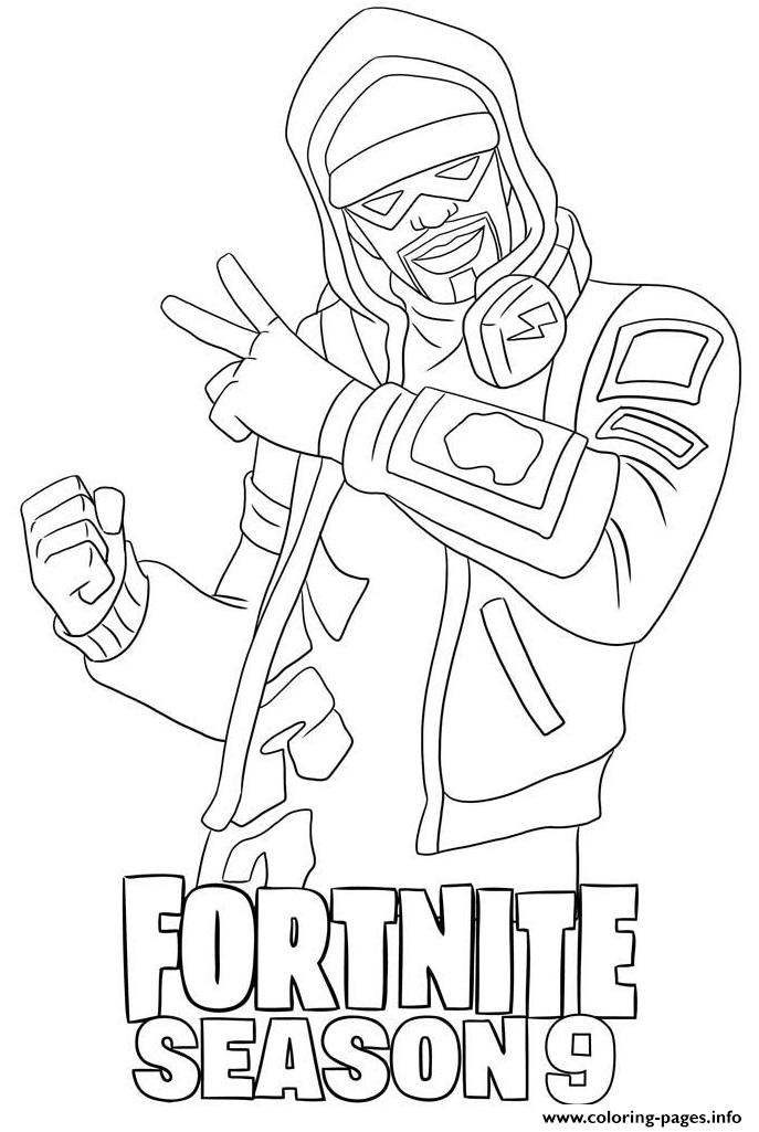 Stratus Skin From Fortnite Season 9 Coloring Pages Printable