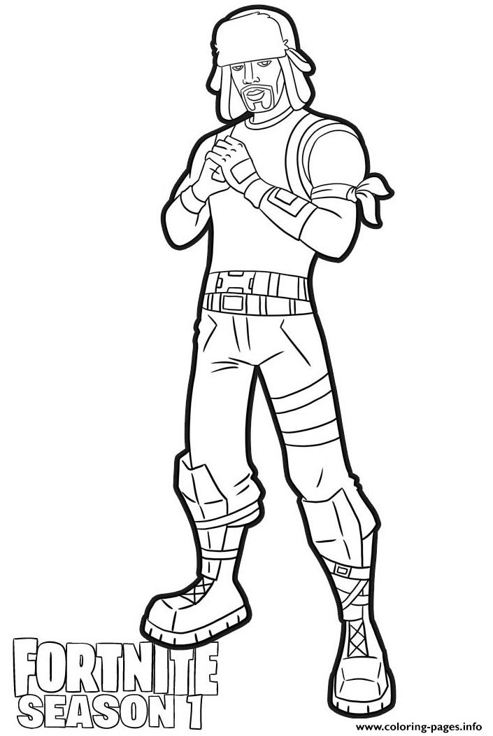 Yuletide Ranger Skin From Fortnite Coloring Pages Printable