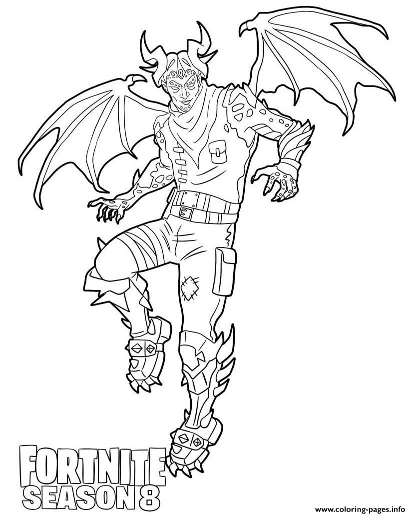 Malcor From Fortnite Season 8 Coloring Pages Printable