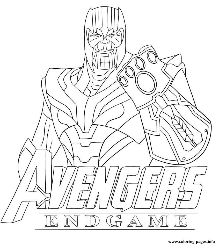 Thanos Avengers Endgame Skin From Fortnite Coloring Pages Printable