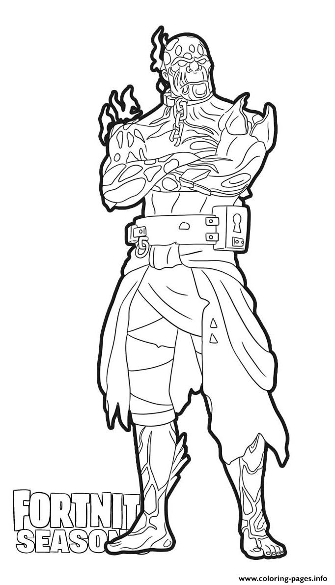 The Prisoner Stage 4 Skin From Fortnite Coloring Pages