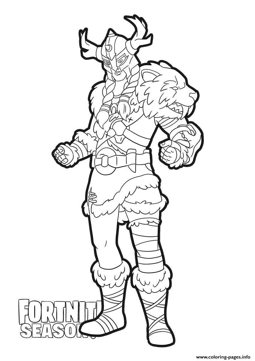 Jeager Skin From Fortnite Coloring Pages Printable
