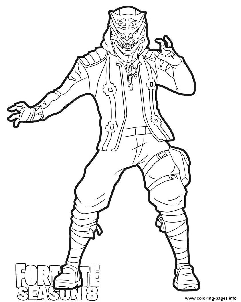 Master Key From Fortnite Season 8 Coloring Pages Printable