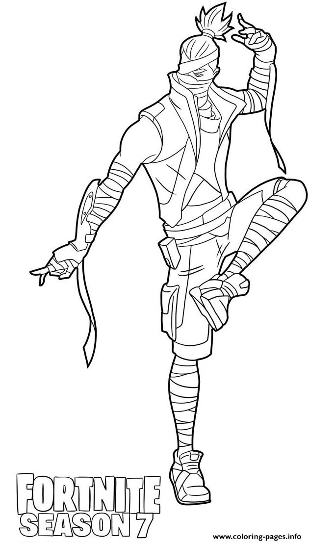 Kenji From Fortnite Season 10 Coloring Pages Printable