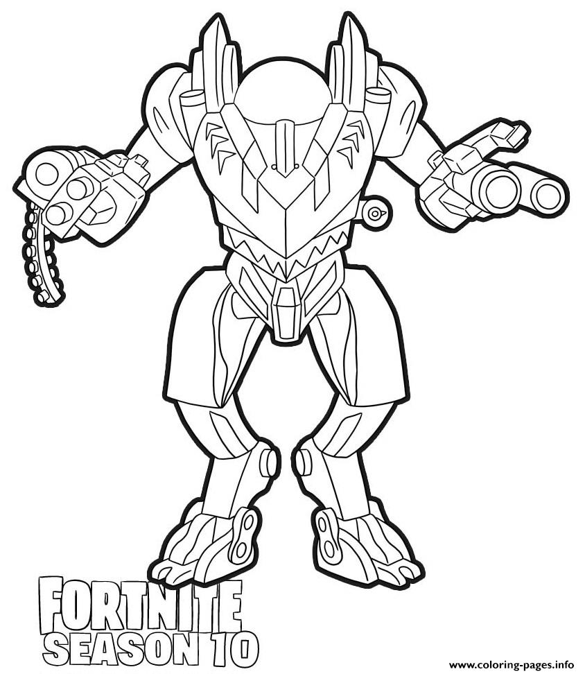 Brute Mech Fortnite Season 10 Coloring Pages Printable