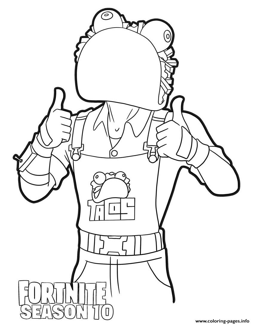 Guaco From Fortnite Season 10 Coloring Pages Printable If you're looking for a full list of all fortnite skins then you've come to the right place. guaco from fortnite season 10 coloring