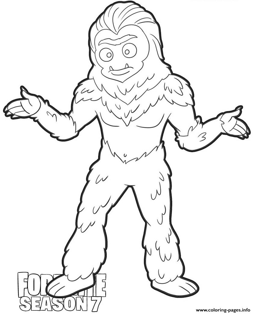 Trog Skin From Fortnite Season 7 Coloring Pages Printable