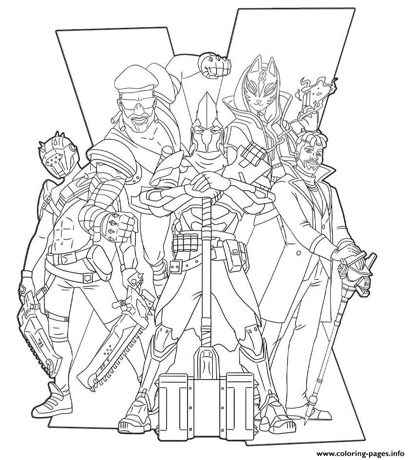 Fortnite Season 10 Poster Coloring Pages Printable