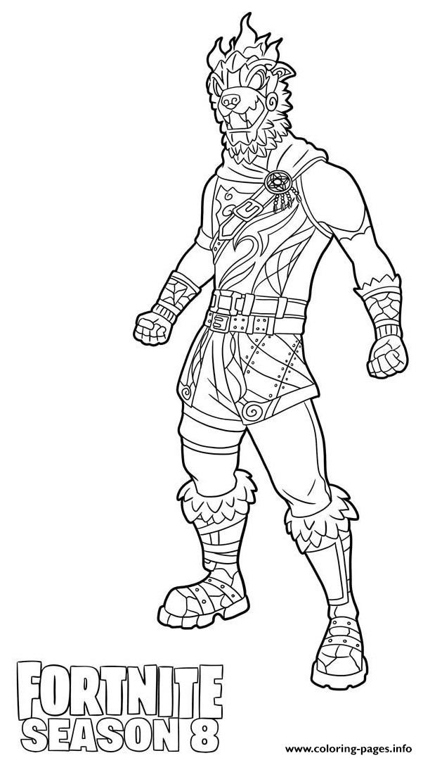 Molten Battle Hound From Fortnite Season 8 Coloring Pages