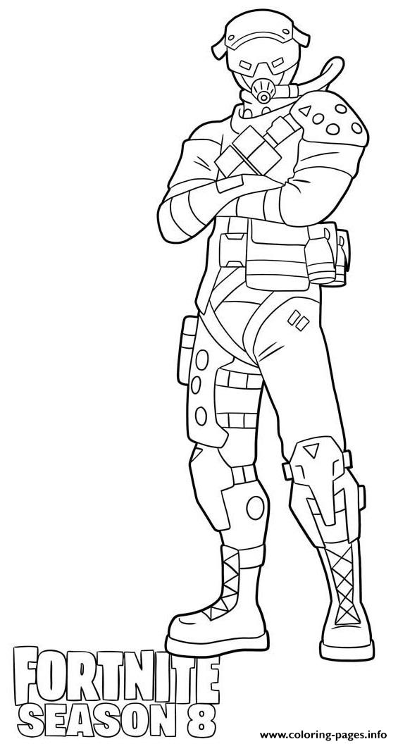 Supersonic Skin From Fortnite Season 8 Coloring Pages