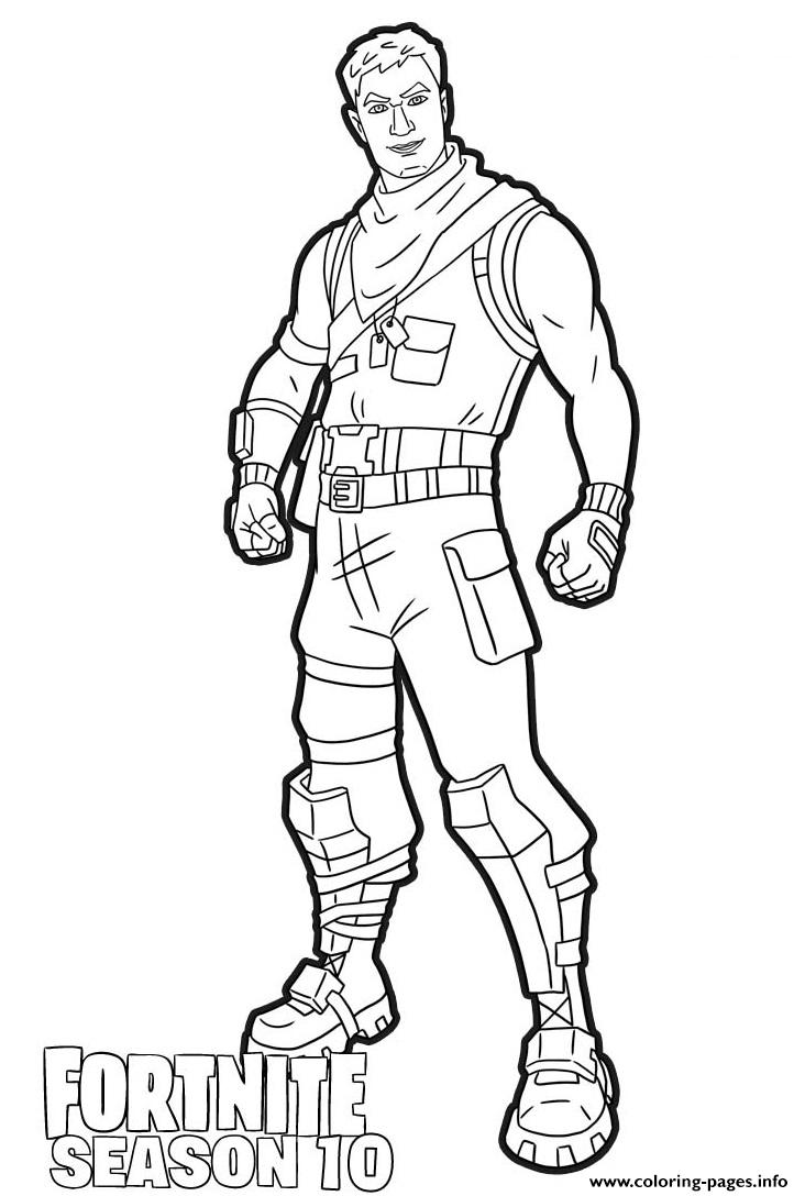 Dark Jonesy Skin From Fortnite Season 10 Coloring Pages