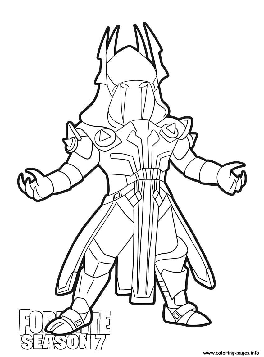 Ice King Skin From Fortnite Season 7 Coloring Pages Printable