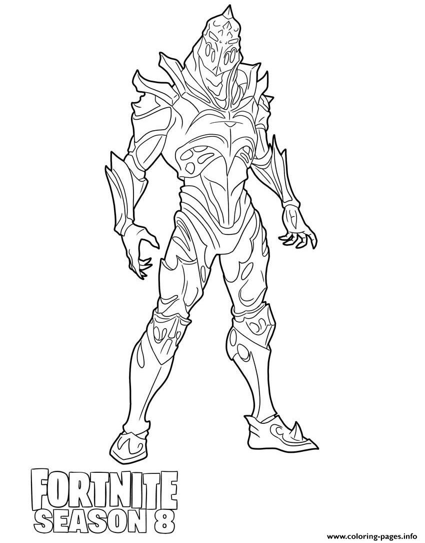 Ruin Detailed Skin From Fortnite Season 8 Coloring Pages