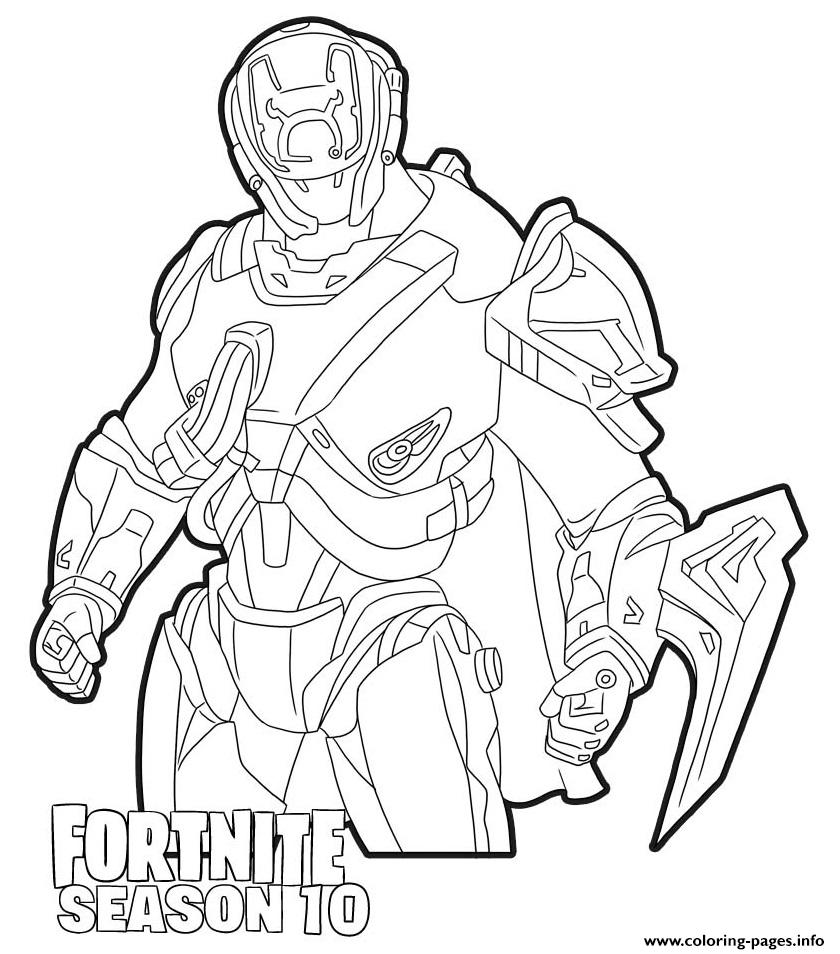 The Scientist Skin From Fortnite Season 10 Coloring Pages
