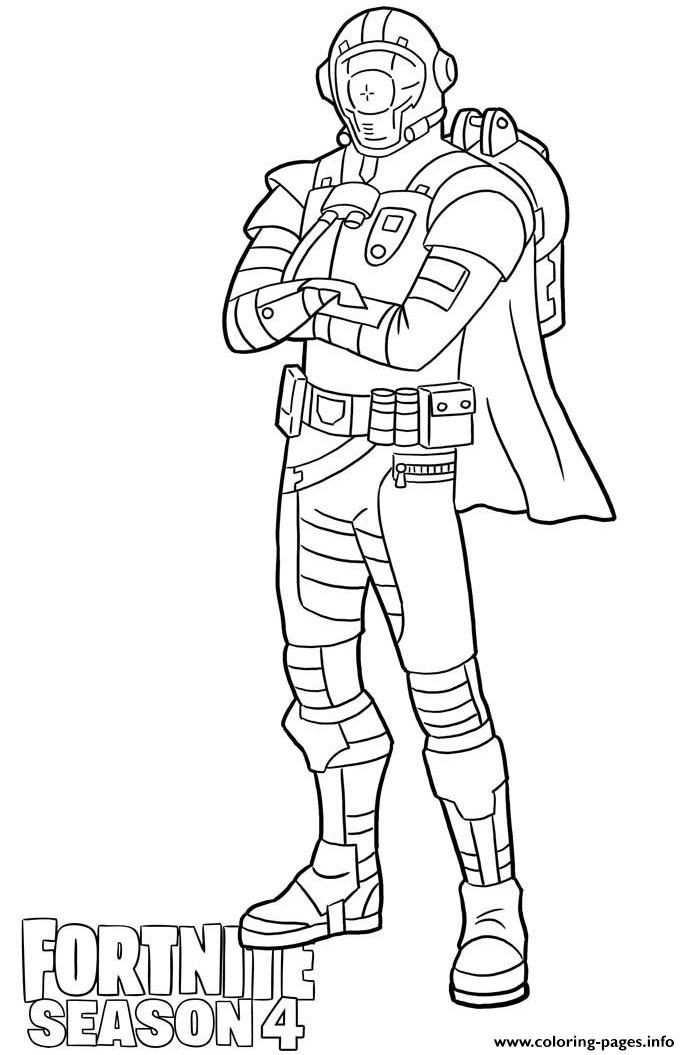 Visitor Skin From Fortnite Season 4 Coloring Pages Printable