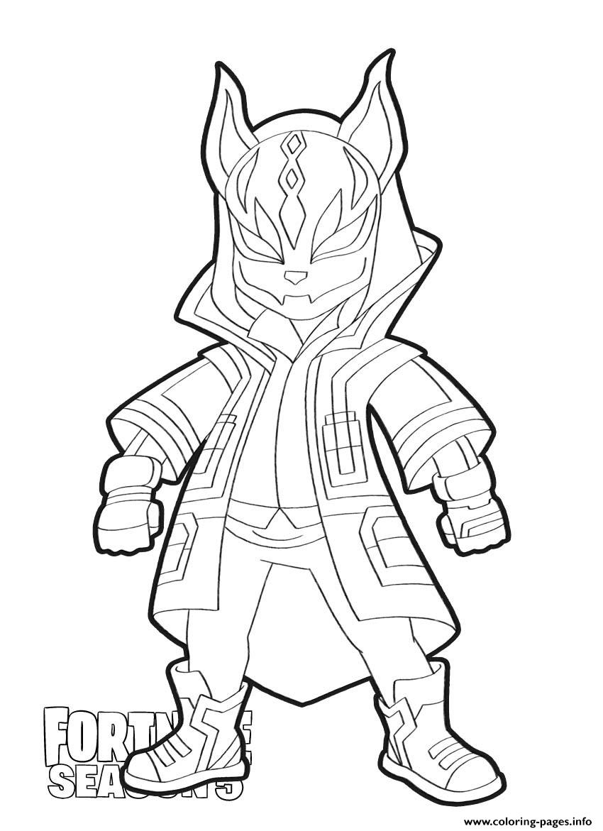 Drift Skin From Fortnite Season 5 Coloring Pages Printable