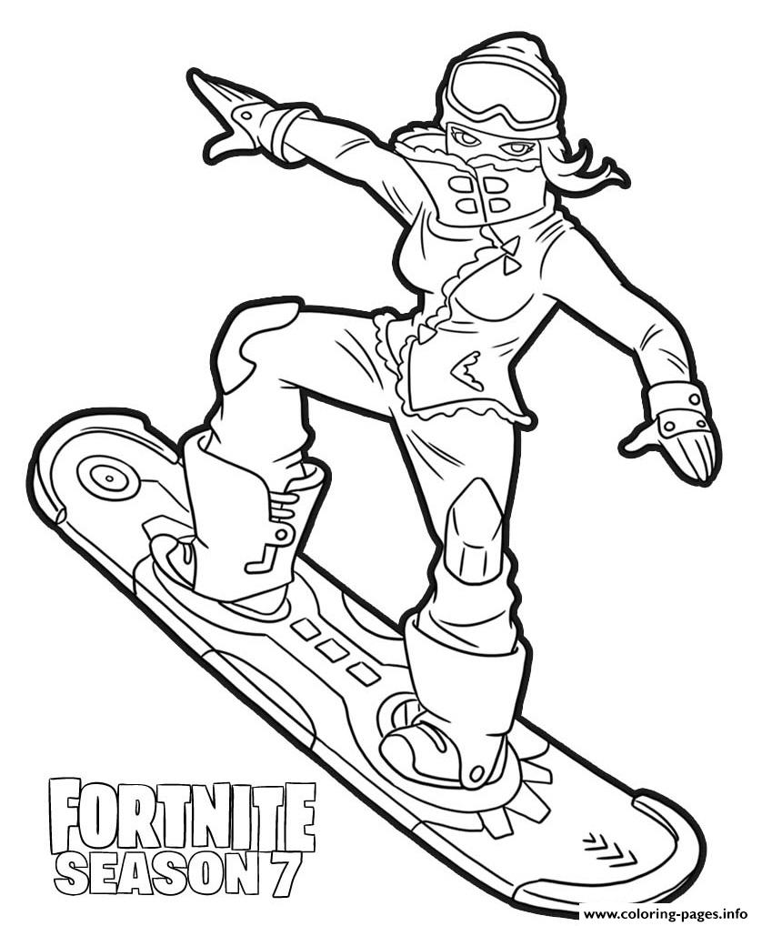 Powder Skin From Fortnite Season 7 Coloring Pages Printable