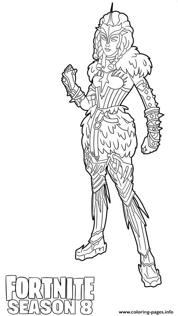 Valkyrie Skin From Fortnite Season 8 Coloring Pages Printable