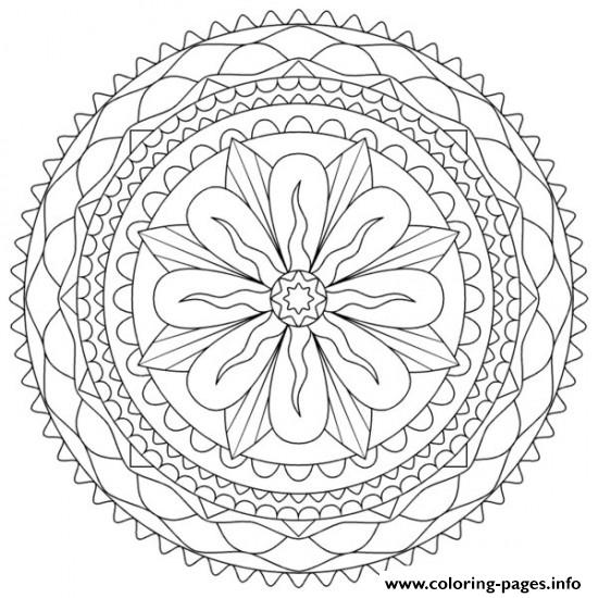 Abstract Flower For Teens Coloring Pages Printable