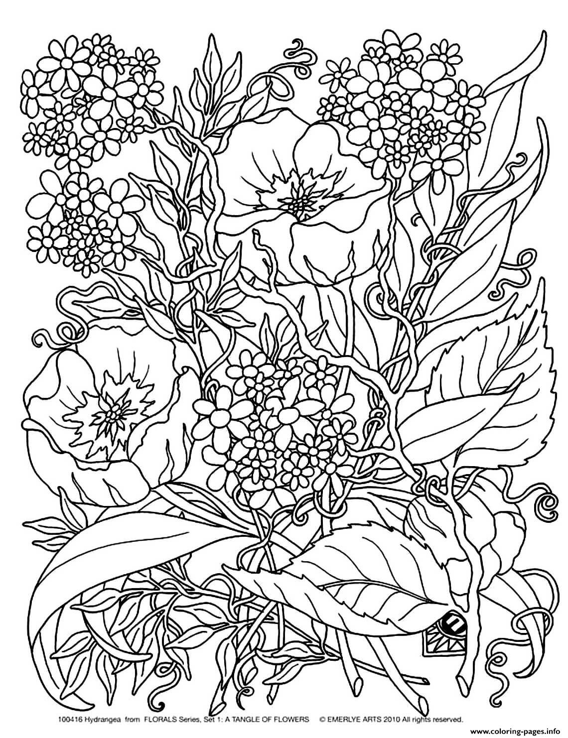 - Adult Savage Flowers Coloring Pages Printable