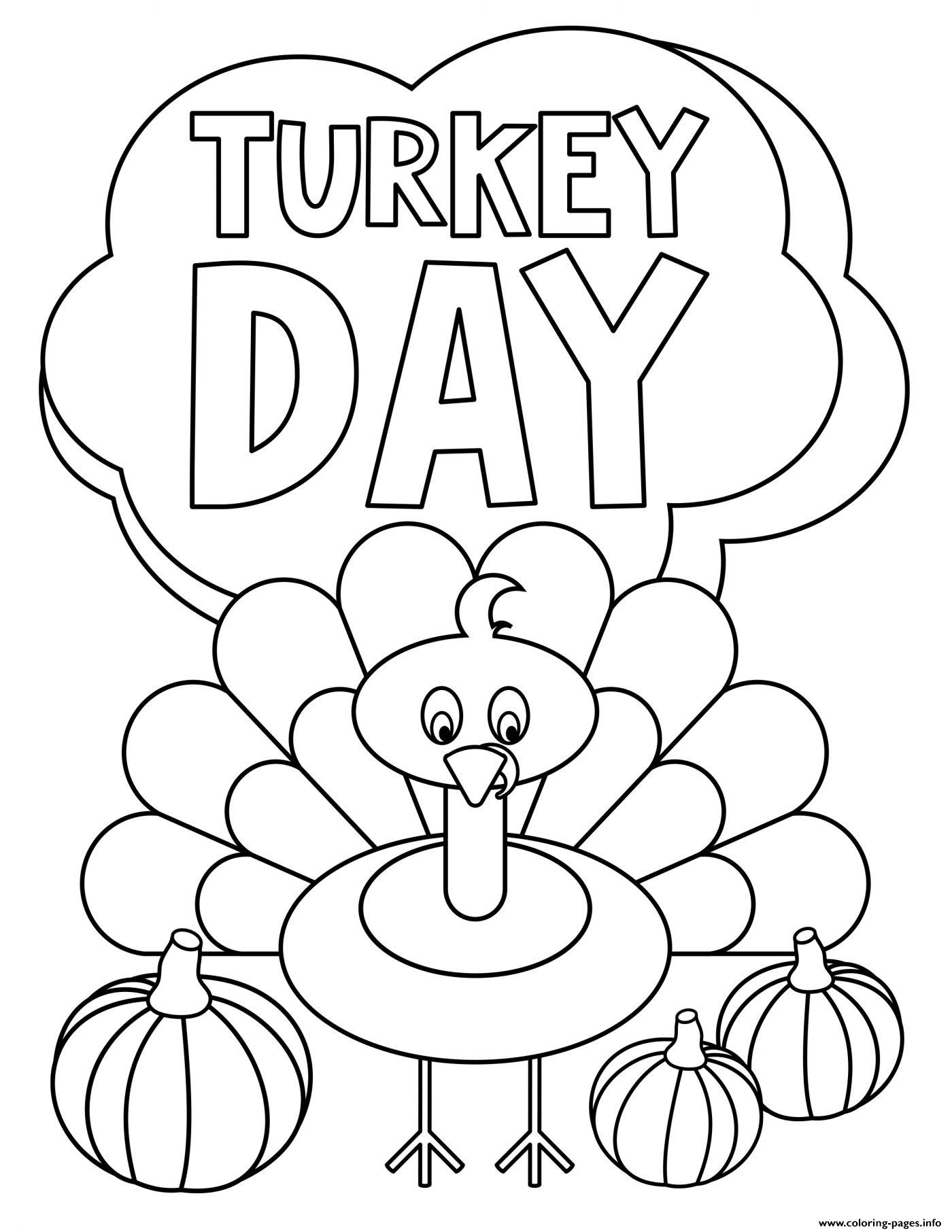 FREE Thanksgiving Coloring Pages for Adults & Kids - Happiness is ... | 1812x1400