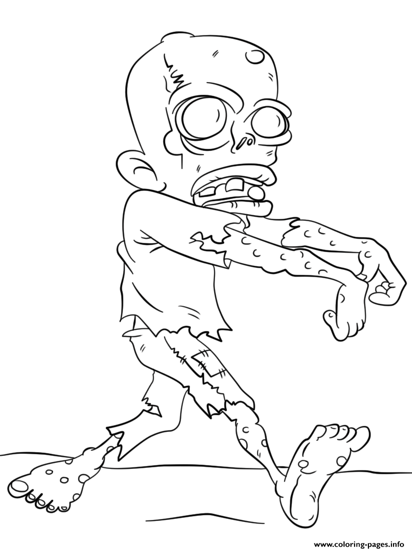 Walking Dead Zombie Coloring Pages Printable
