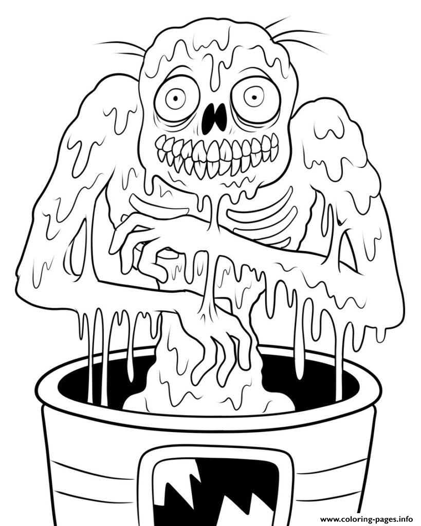 Zombie Out Be Careful Coloring Pages Printable