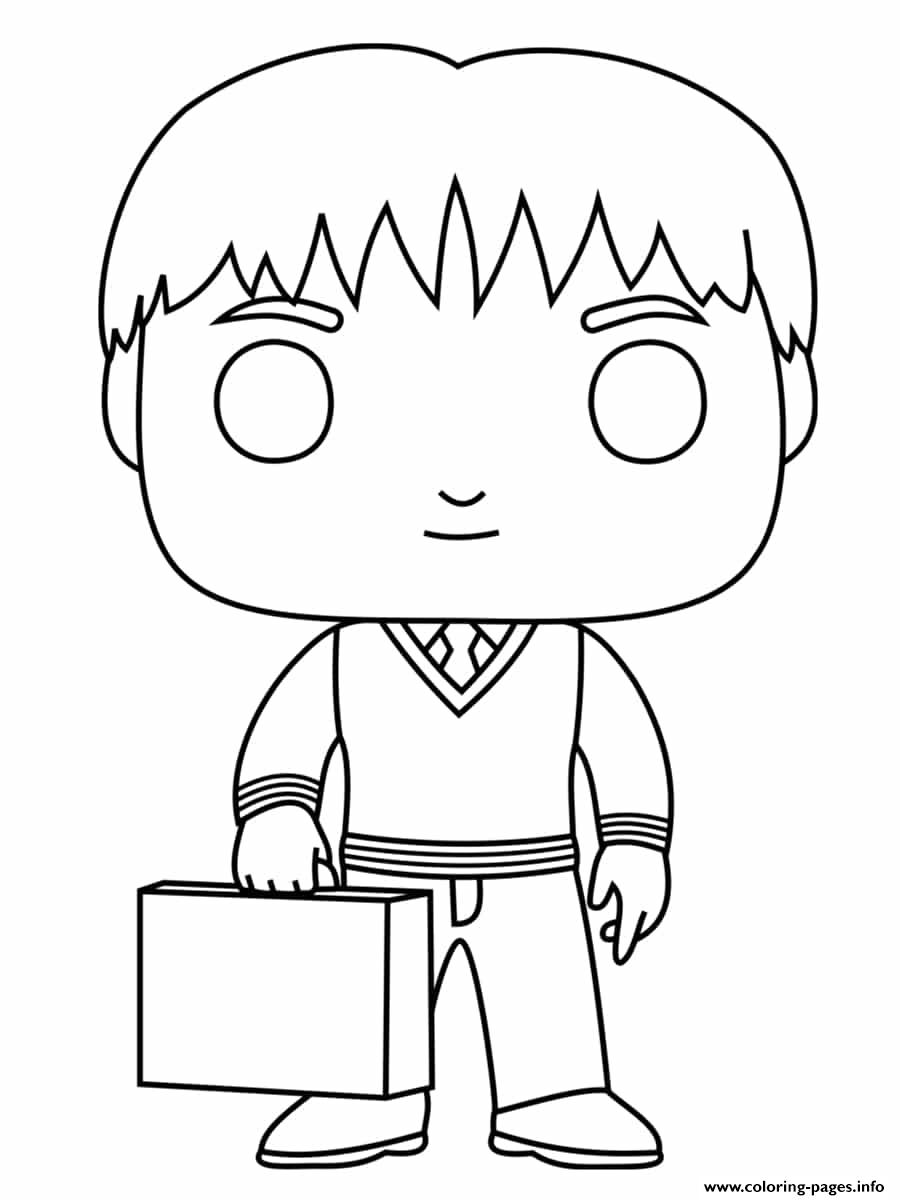 Fred Weasley coloring pages