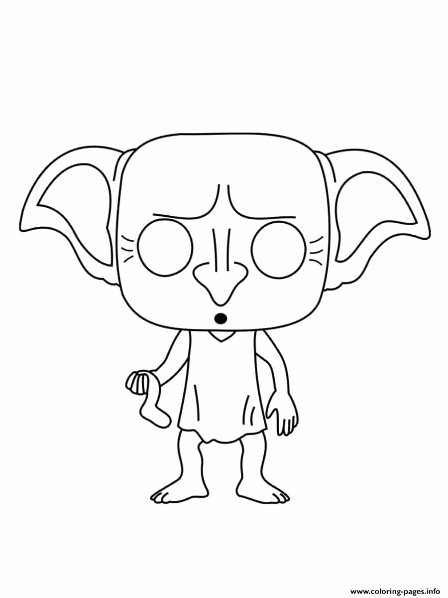 Dobby Is A House Elf In The Harry Potter Coloring Pages ...