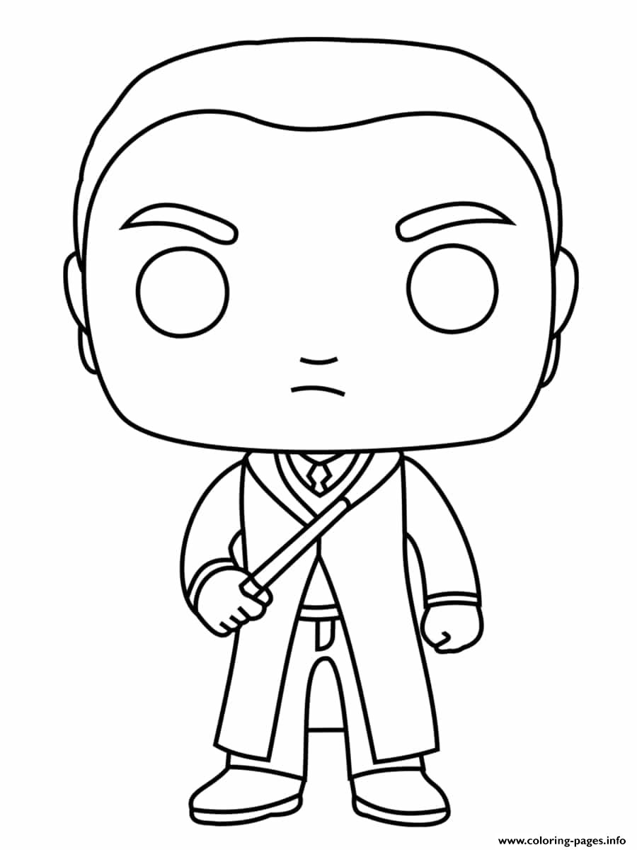 Draco Lucius Malfoy In Slytherin House coloring pages