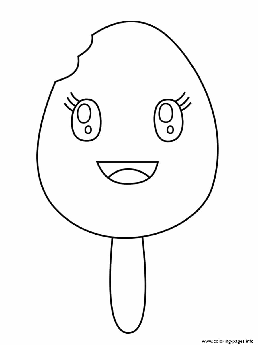 Ice Cream Happy Kawaii coloring pages
