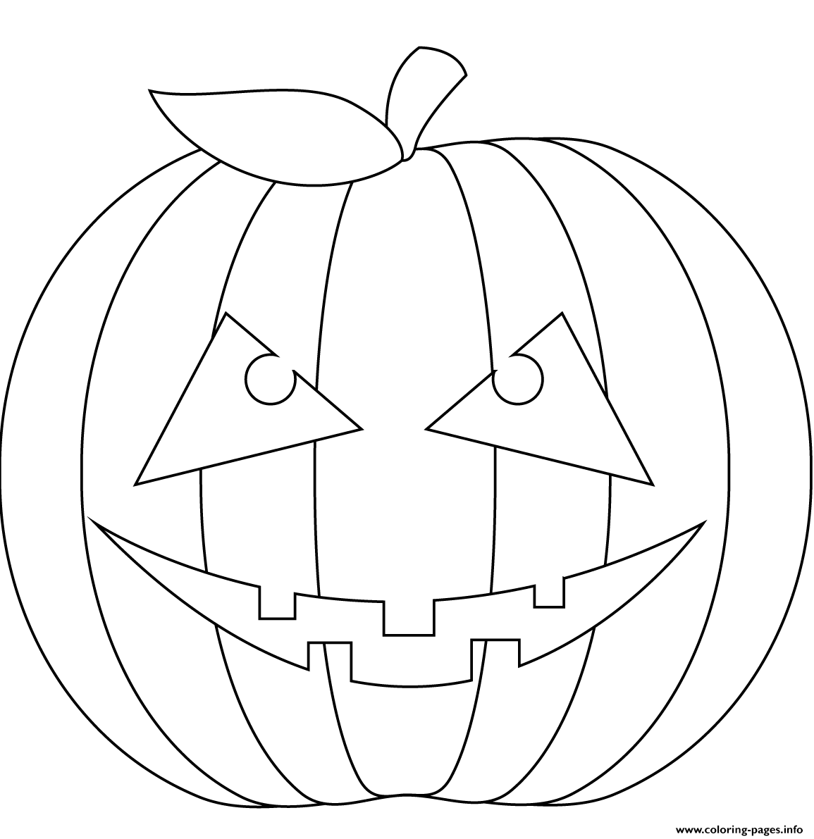 Scary Pumpkin Coloring Pages Printable