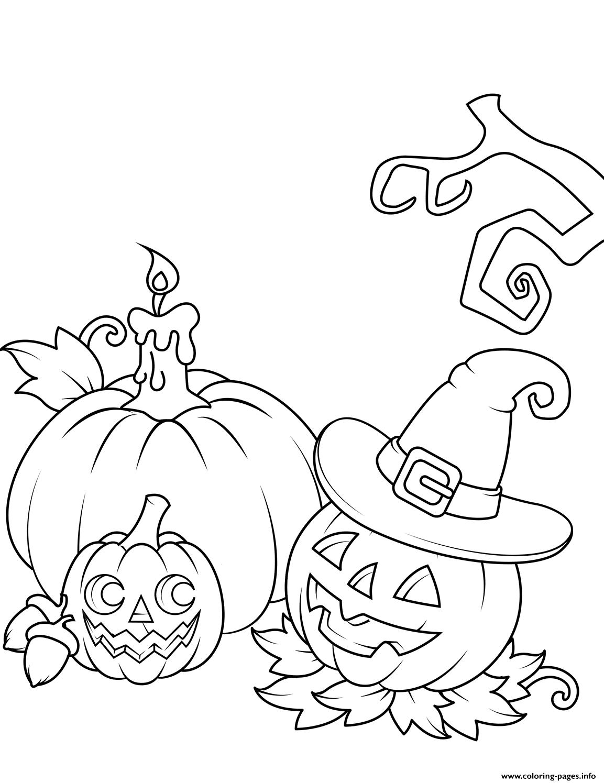 Jack O Lanterns Coloring Pages Printable