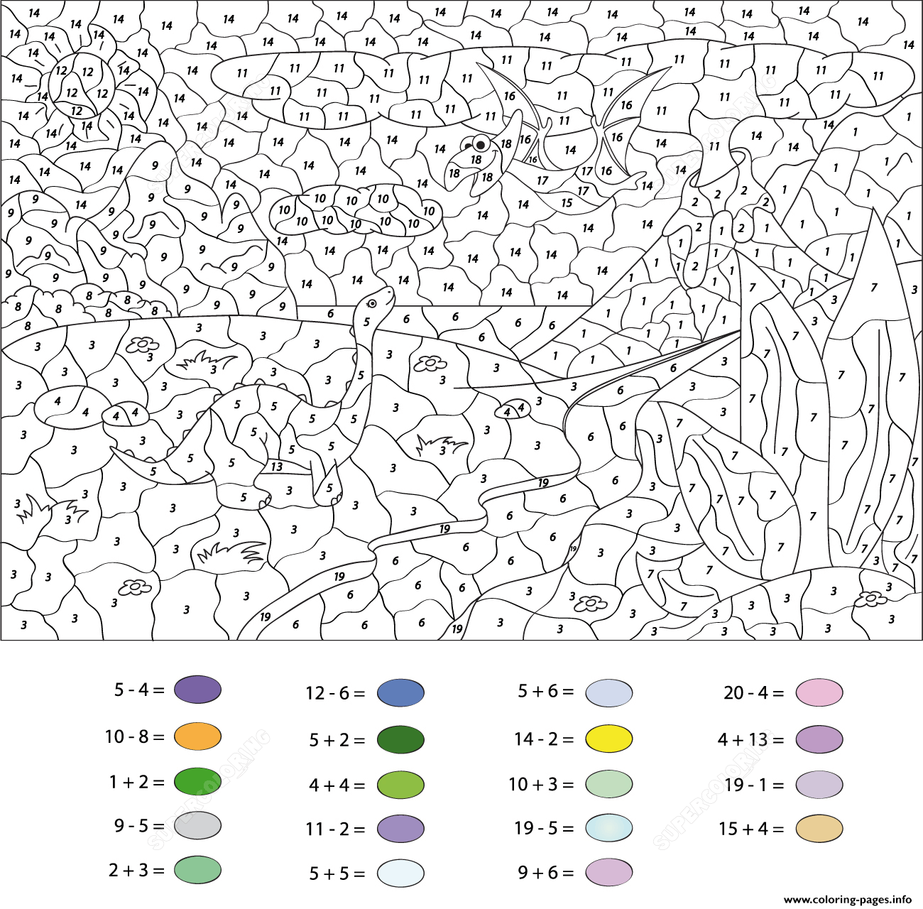 Free Color By Number For Kids Adults Winter Scenes Online Coloring ...