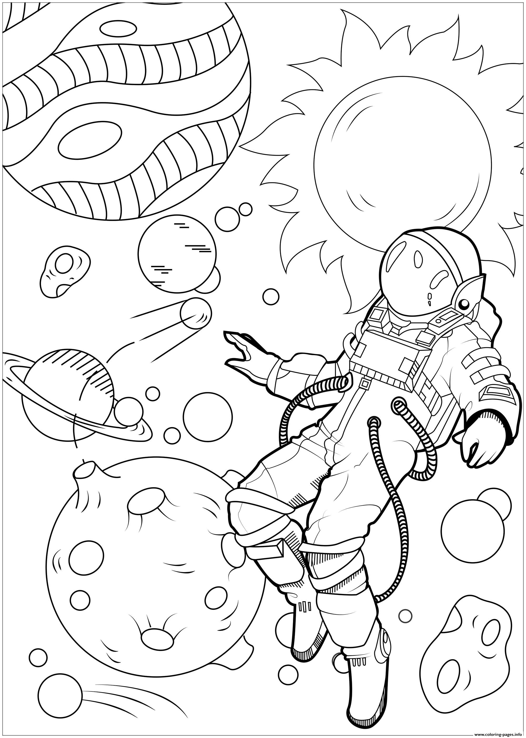 Let Yourself Float In The Galaxy Coloring Pages Printable