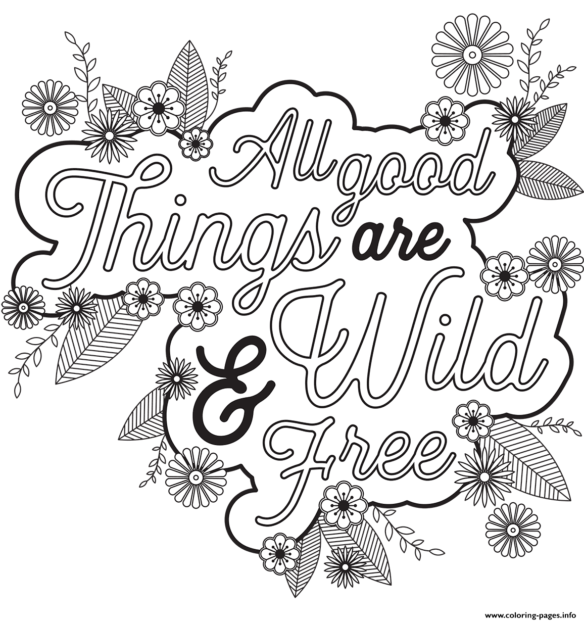 All Good Things Are Wild Free coloring pages