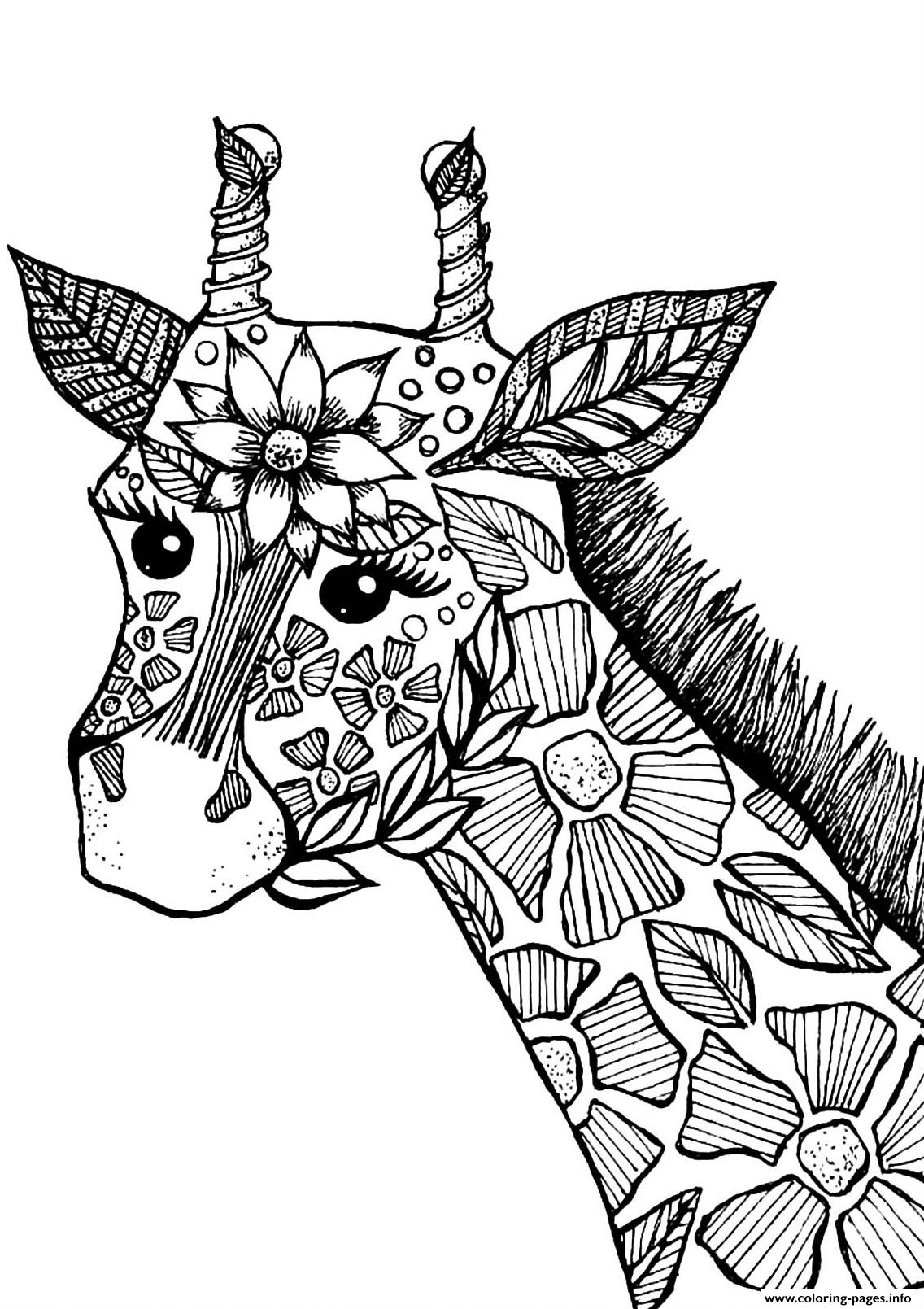 The Stains Of This Giraffe Have Been Drawn Like Flowers ...