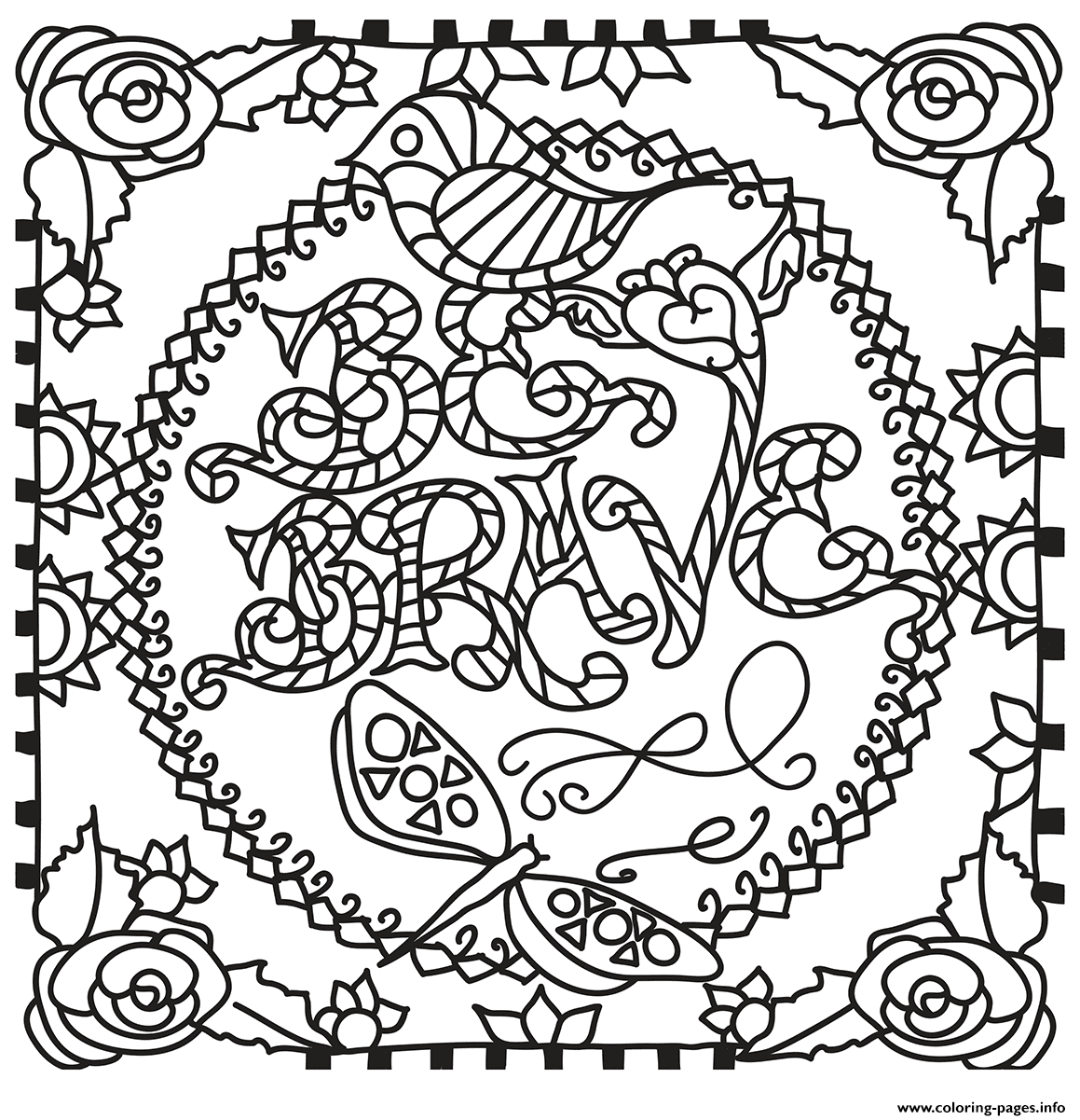 Be Brave coloring pages