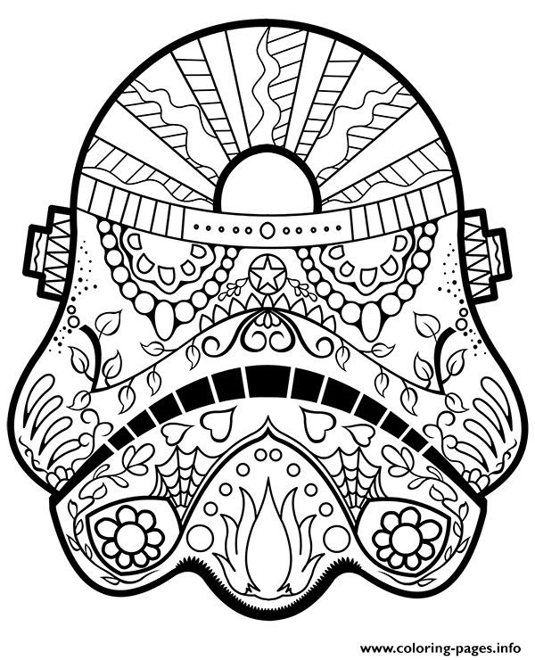 Star Wars Mandala Coloring Pages Printable