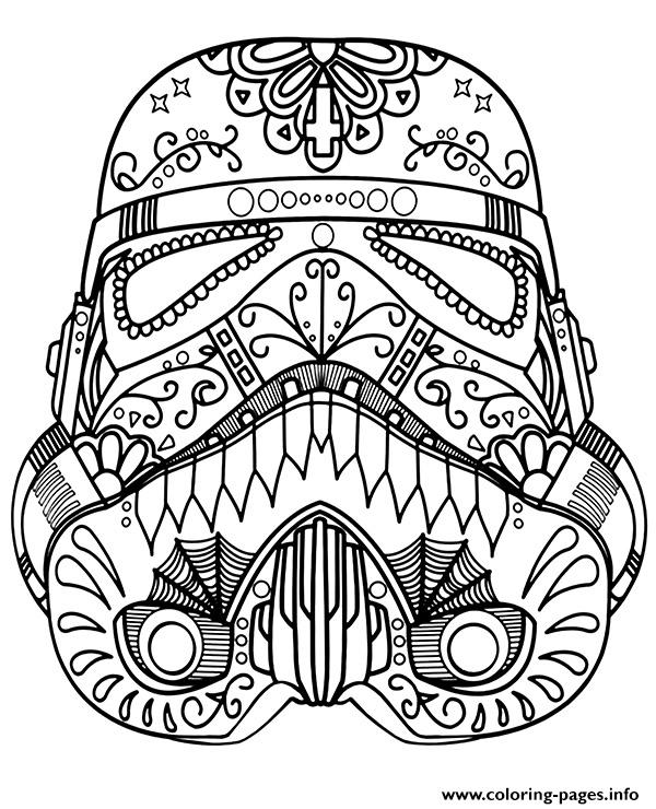 Star Wars Mandala Trooper coloring pages