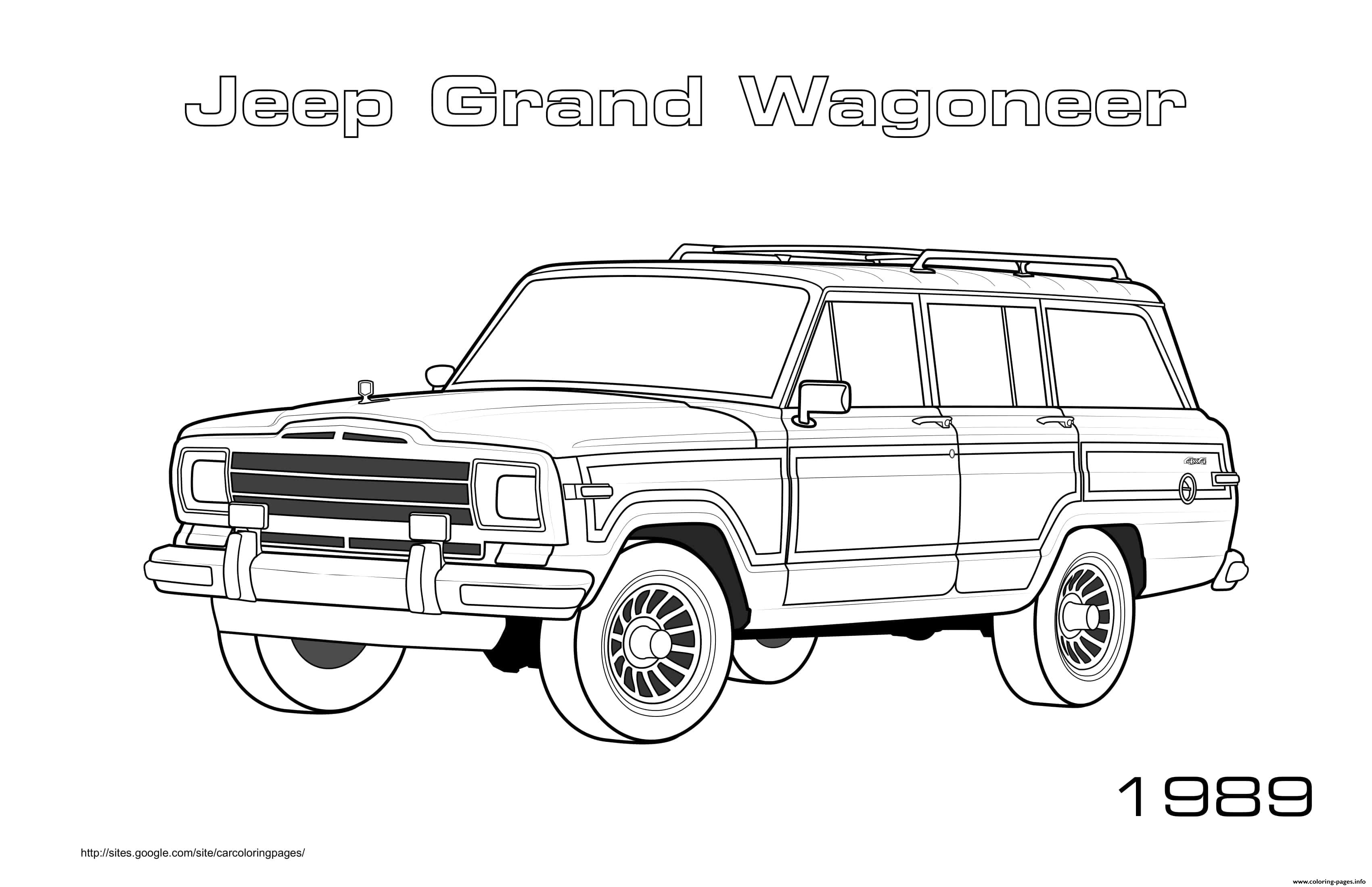 Jeep Grand Wagoneer 1989 Coloring Pages Printable