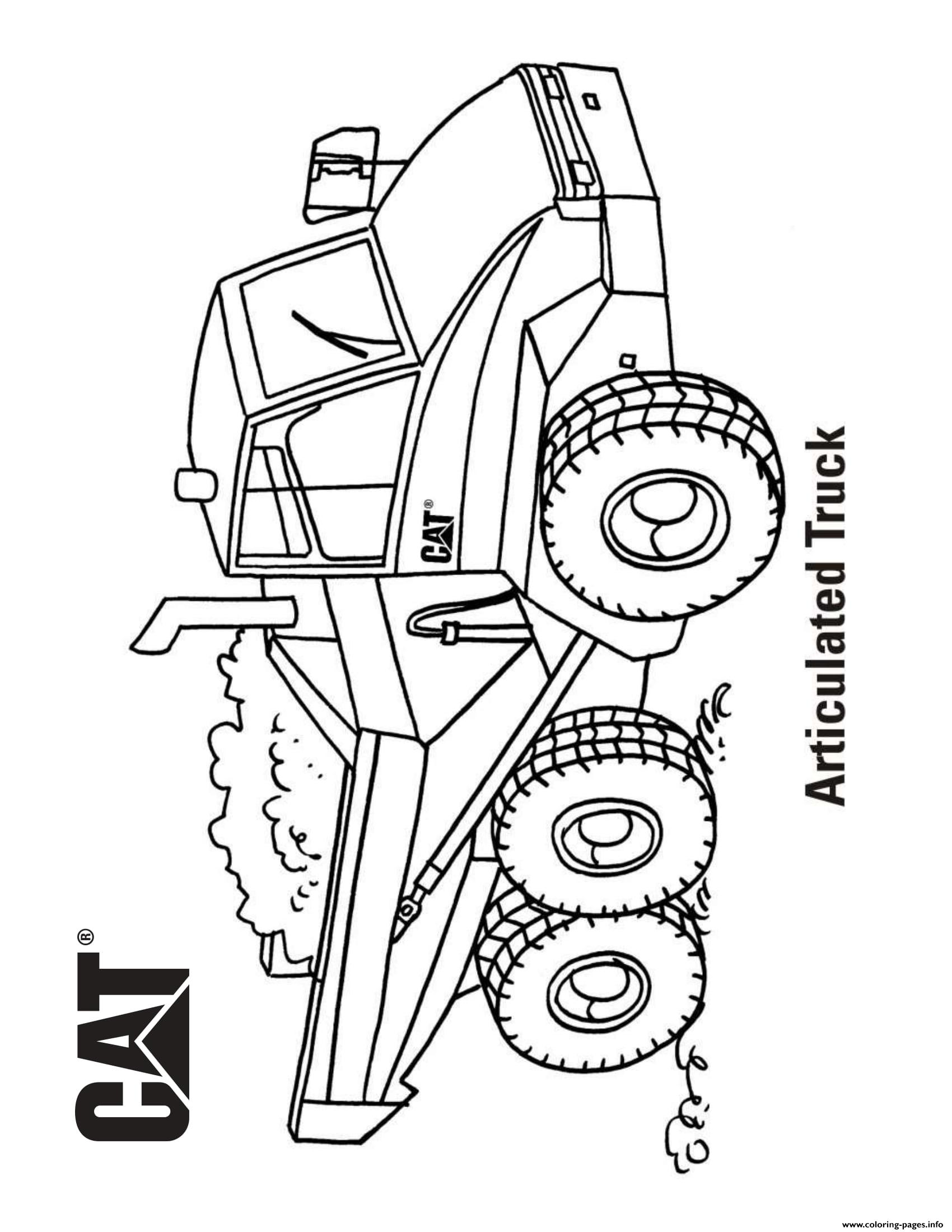 coloring book truck pages - photo#38
