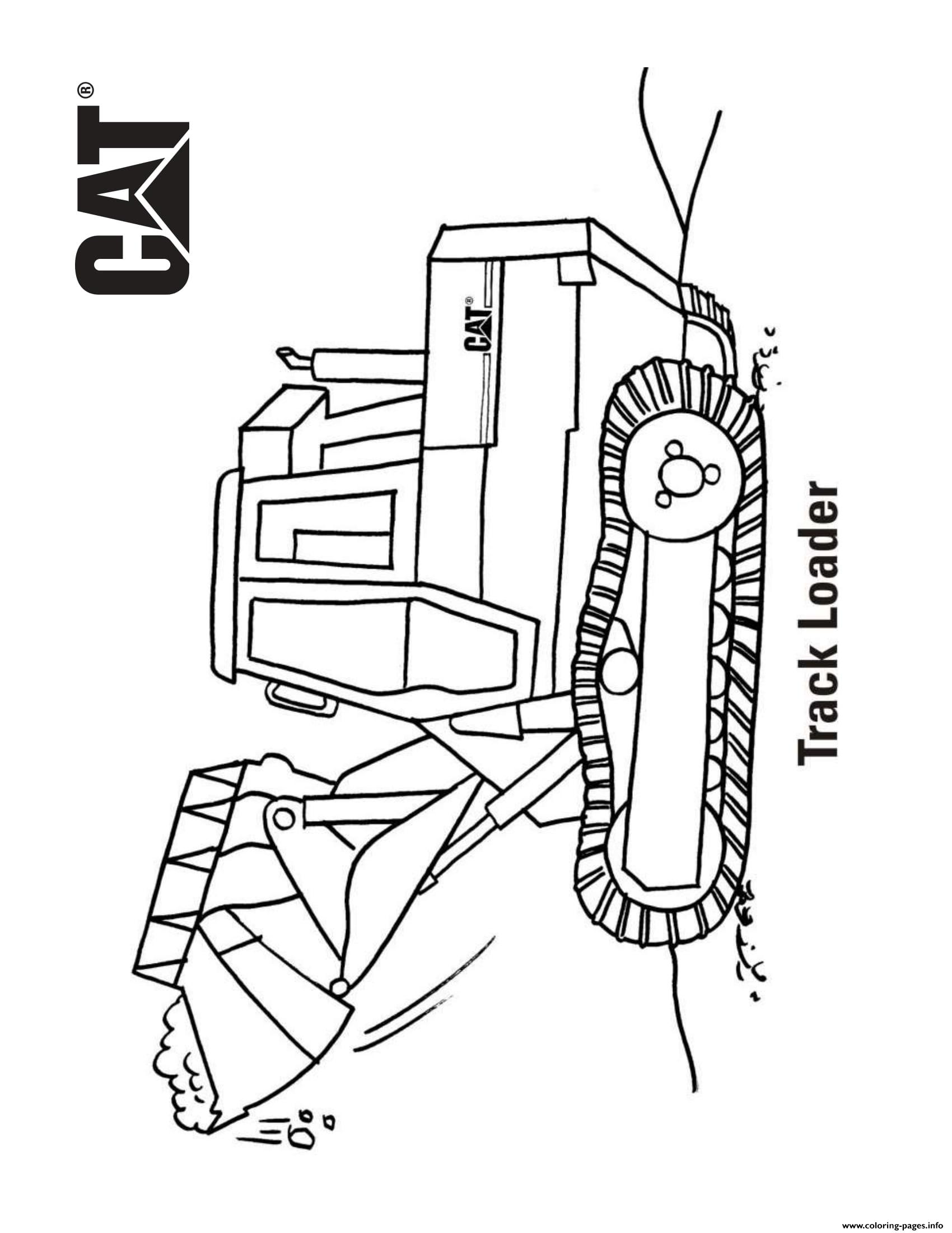 Track Loader Truck Caterpillar Coloring Pages Printable