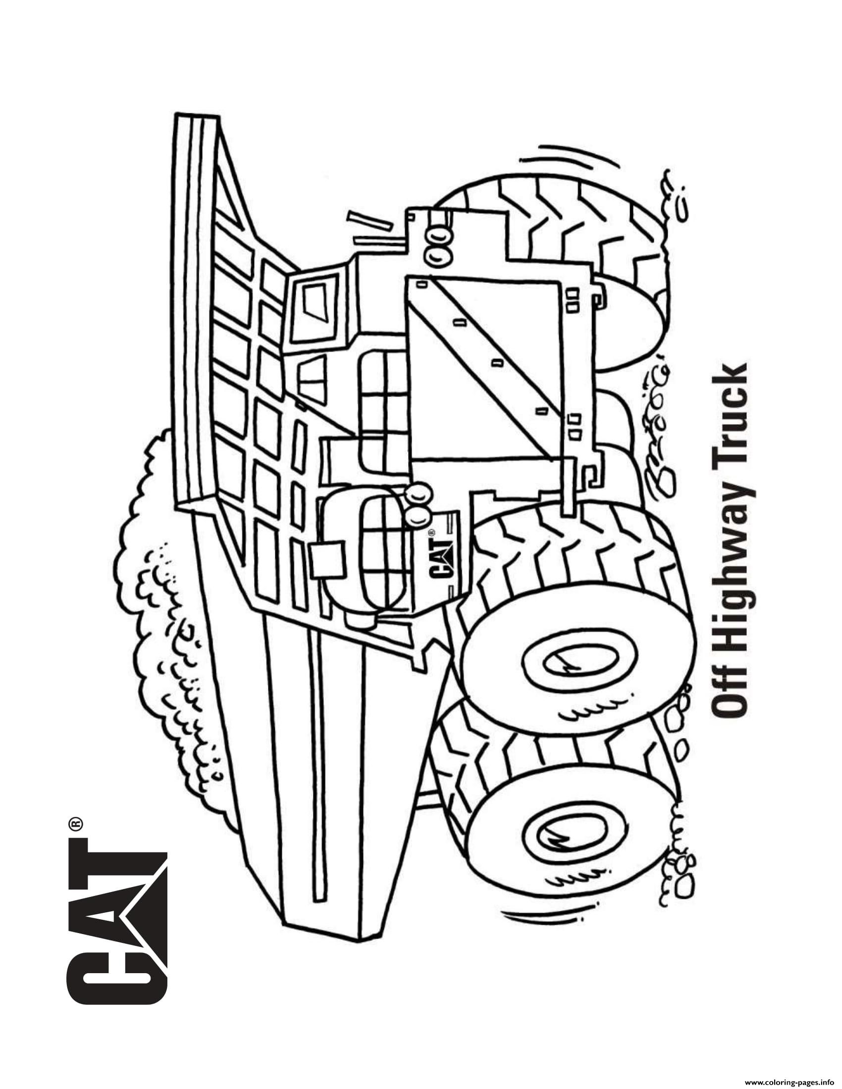 coloring book truck pages - photo#48