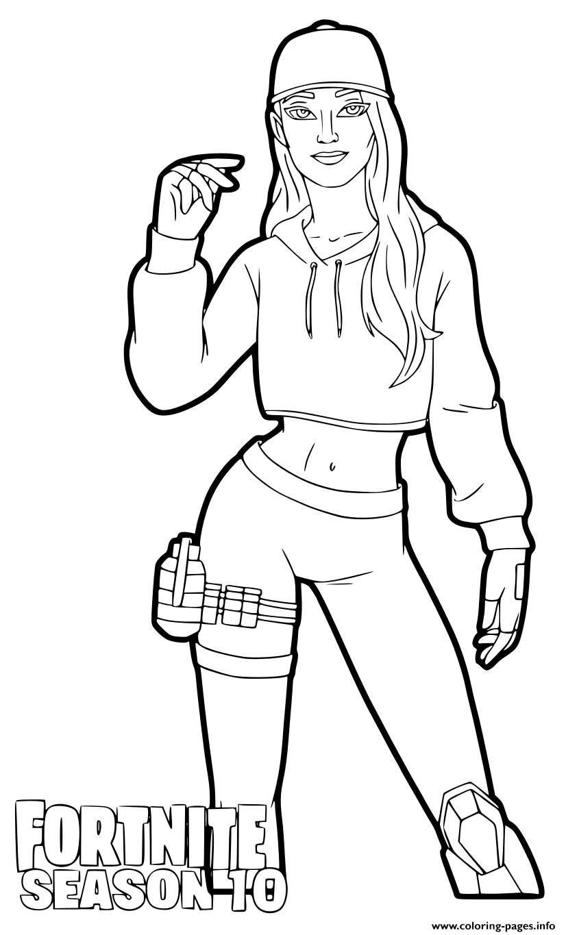 Ruby Fortnite Season 10 coloring pages