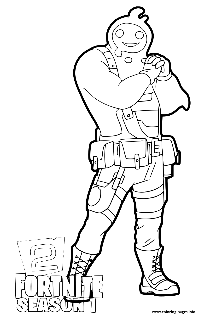 Fortnite Chapter 2 Rippley coloring pages