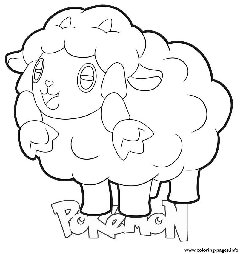Wooloo Pokemon Coloring Pages Printable