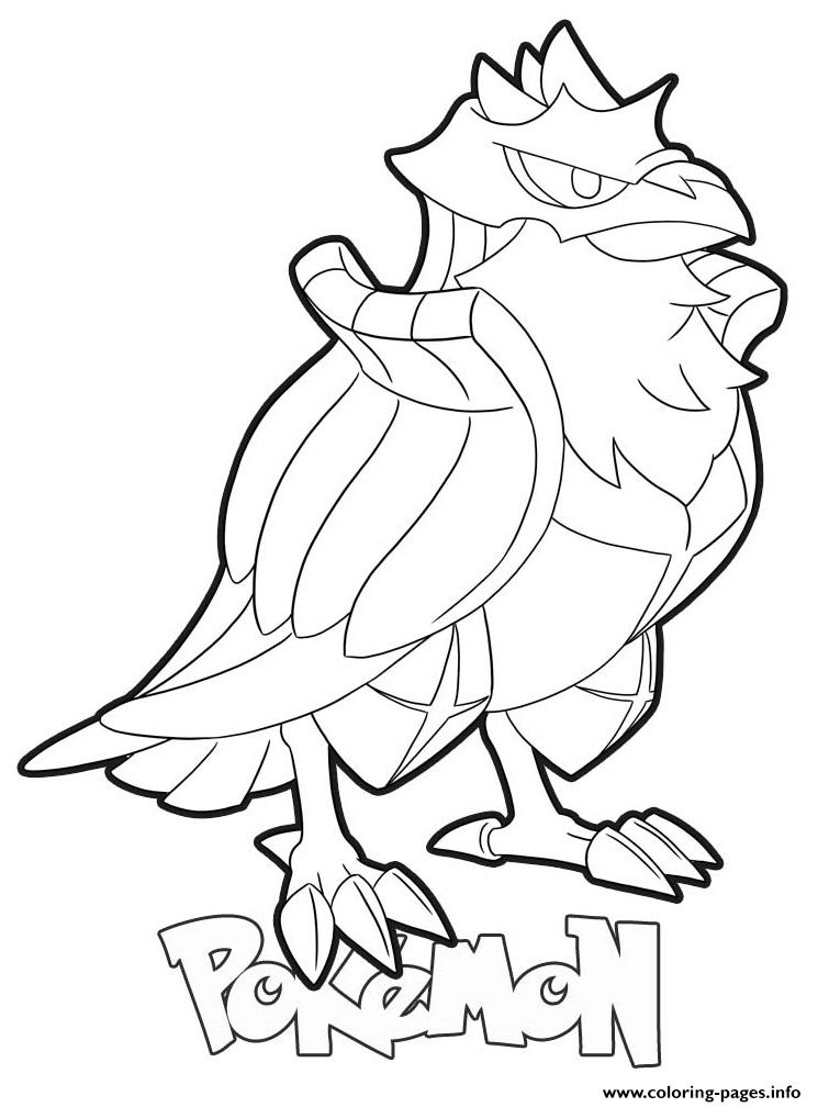Corviknight Pokemon Coloring Pages